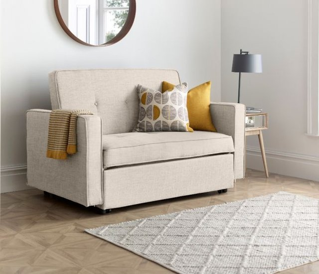 Troy Natural Fabric Sofa Bed