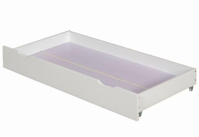 Zibo White Wooden Under Bed Storage Drawer