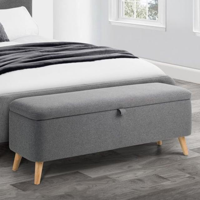 Astrid Grey Fabric Blanket Box