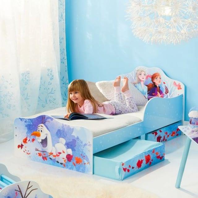 Frozen 2 Elsa and Anna Toddler 2 Drawer Storage Bed