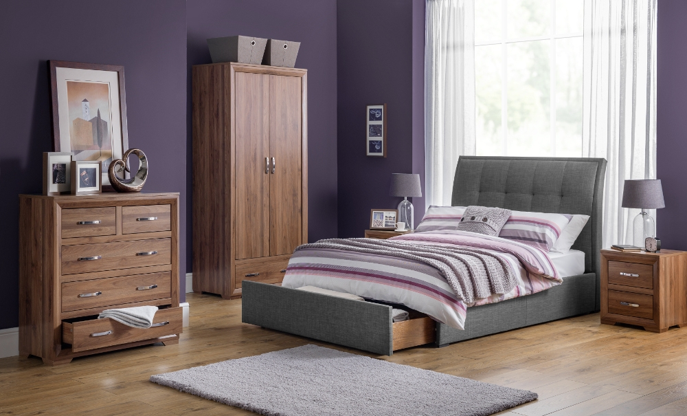 Buckingham Walnut Wooden Bedroom Furniture Collection