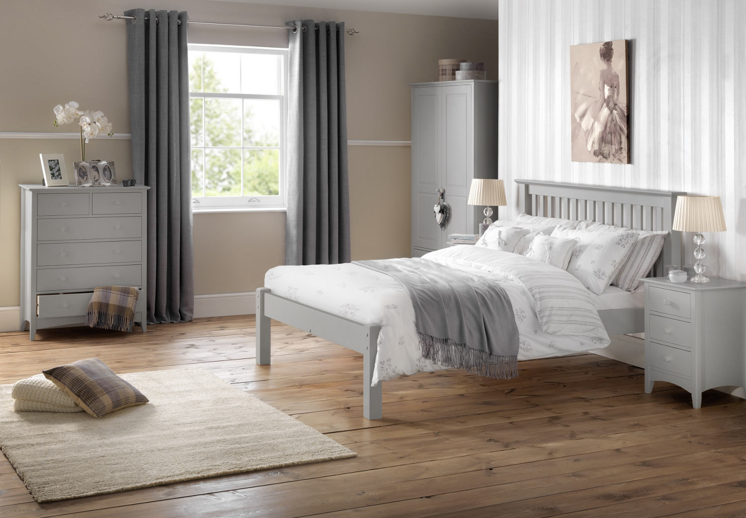 Cameo Grey Wooden Bedroom Furniture Collection