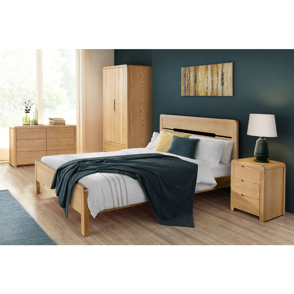 Curve Oak Bedroom Furniture Collection