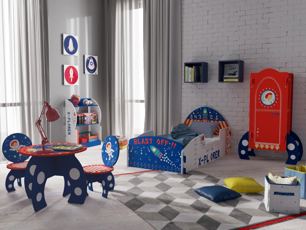 Explorer Rocket Ship Children's Wooden Bedroom Furniture Collection