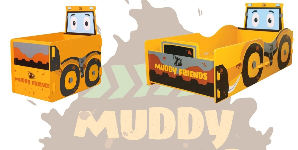 JCB Muddy Friends Children's Wooden Bedroom Furniture Collection
