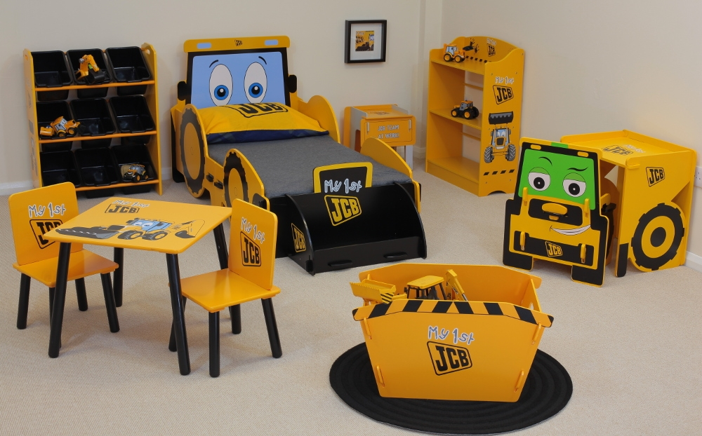 JCB Yellow Children's Wooden Bedroom Furniture Collection