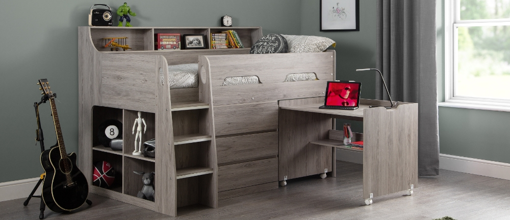 Jupiter Grey Oak Wooden Bedroom Furniture Collection