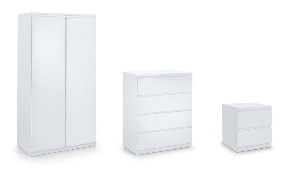 Jupiter White Wooden Bedroom Furniture Collection