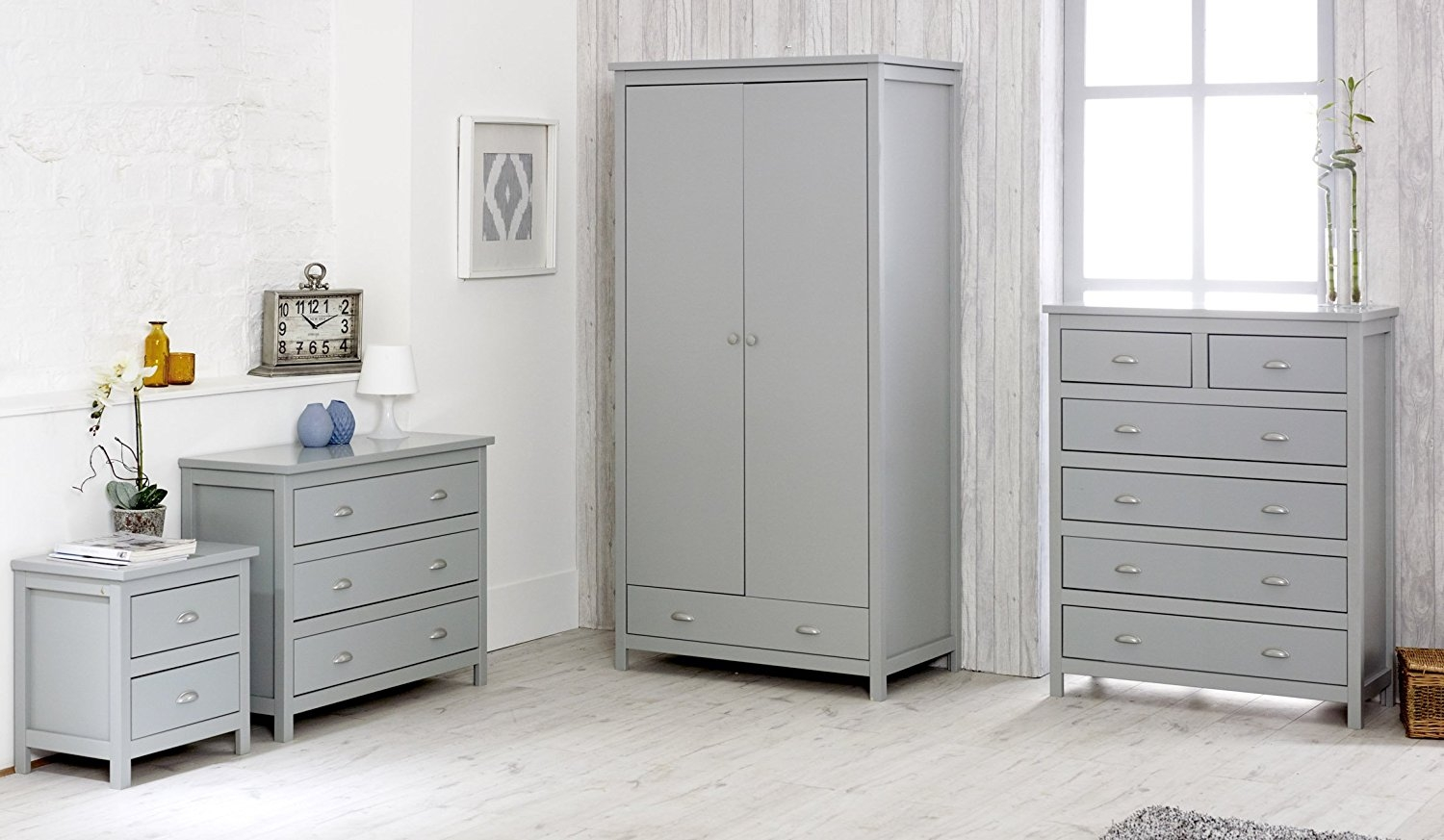 Kingston Grey Wooden Bedroom Furniture Collection