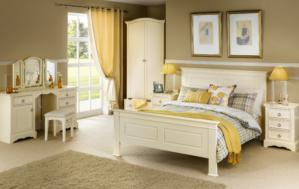 La Rochelle Stone White Wooden Bedroom Furniture Collection