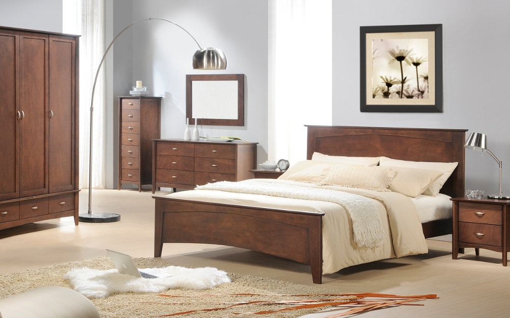 Minuet Mahogany Wooden Bedroom Furniture Collection