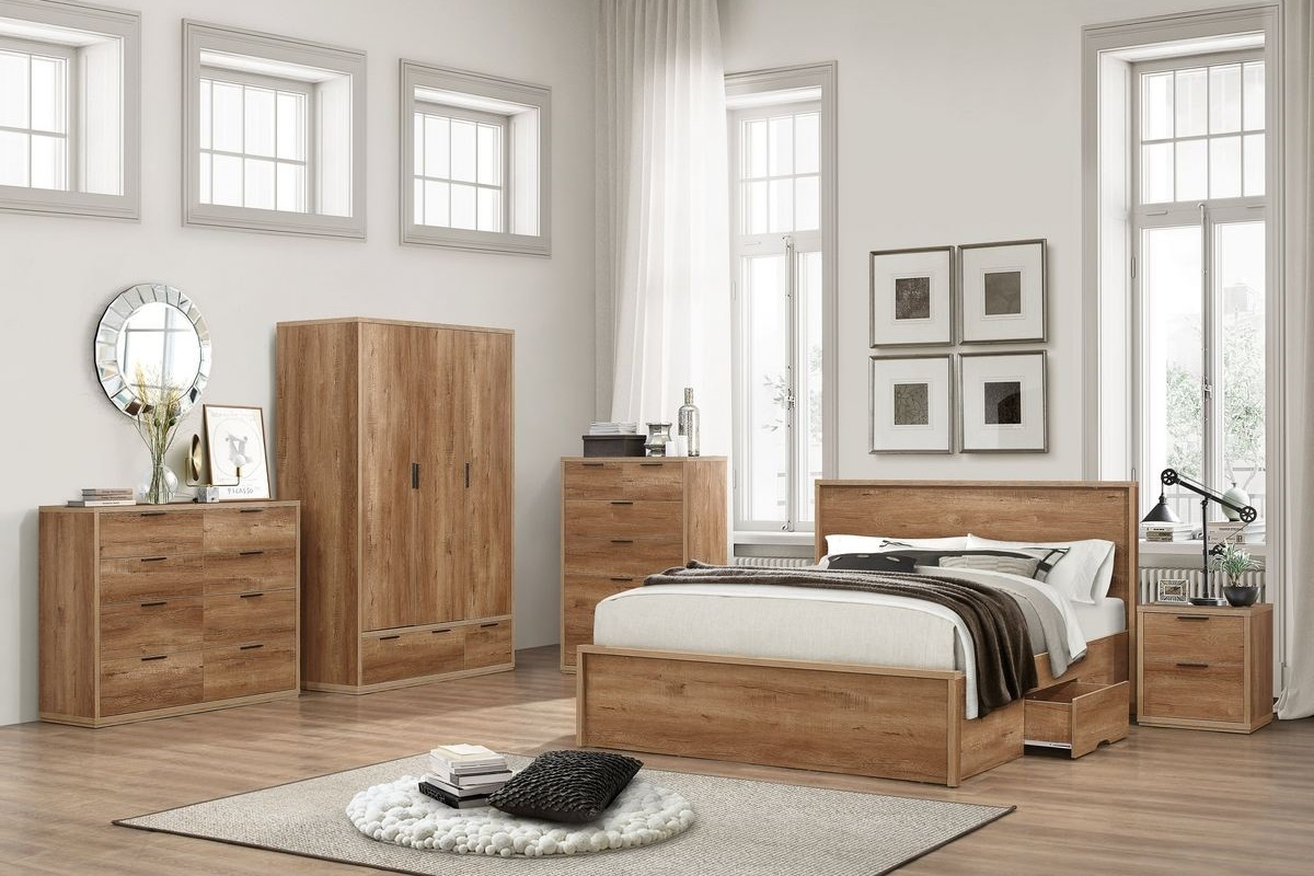 Stockwell Oak Wooden Bedroom Furniture Collection