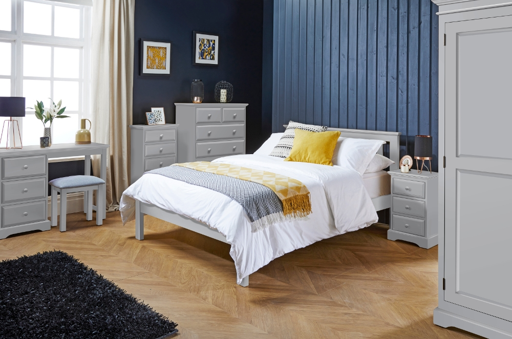 Suffolk Dove Grey Wooden Bedroom Furniture Collection