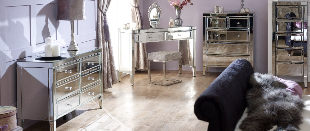 Valencia Mirrored Bedroom Furniture Collection