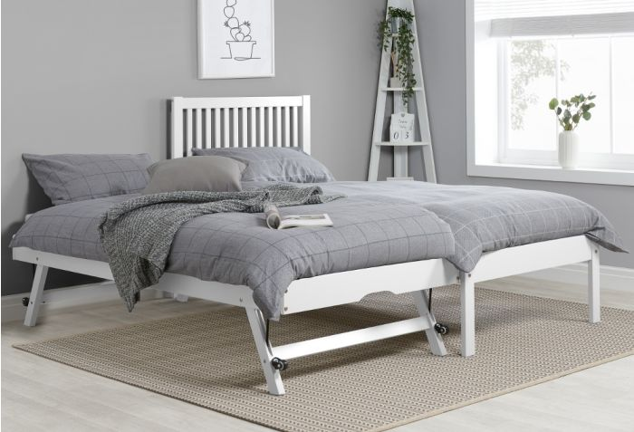 Buxton White Wooden Guest Bed