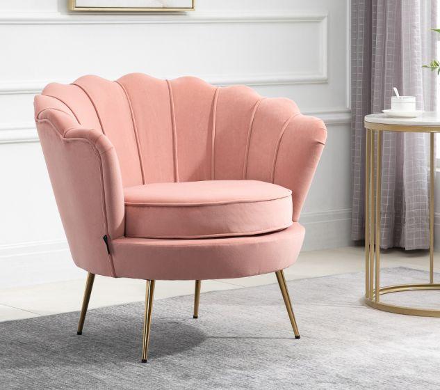Ariel Coral Fabric Chair