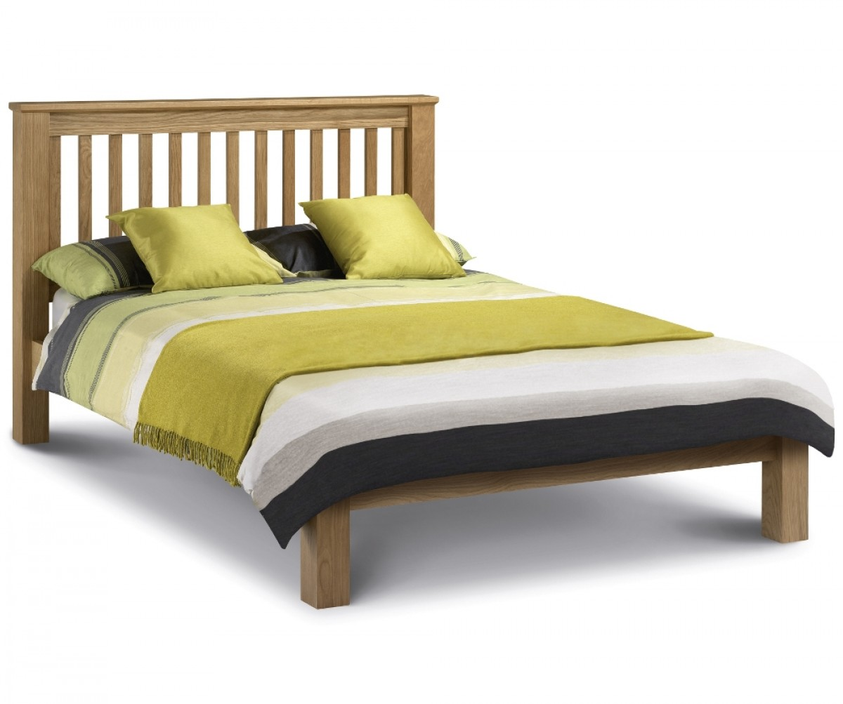 Amsterdam Low Foot End Solid Oak Wooden Bed