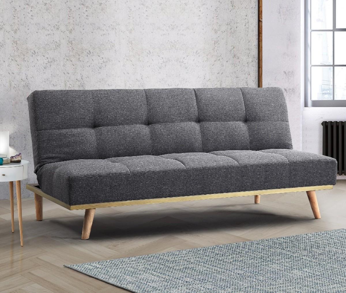 Snug Grey Fabric Sofa Bed