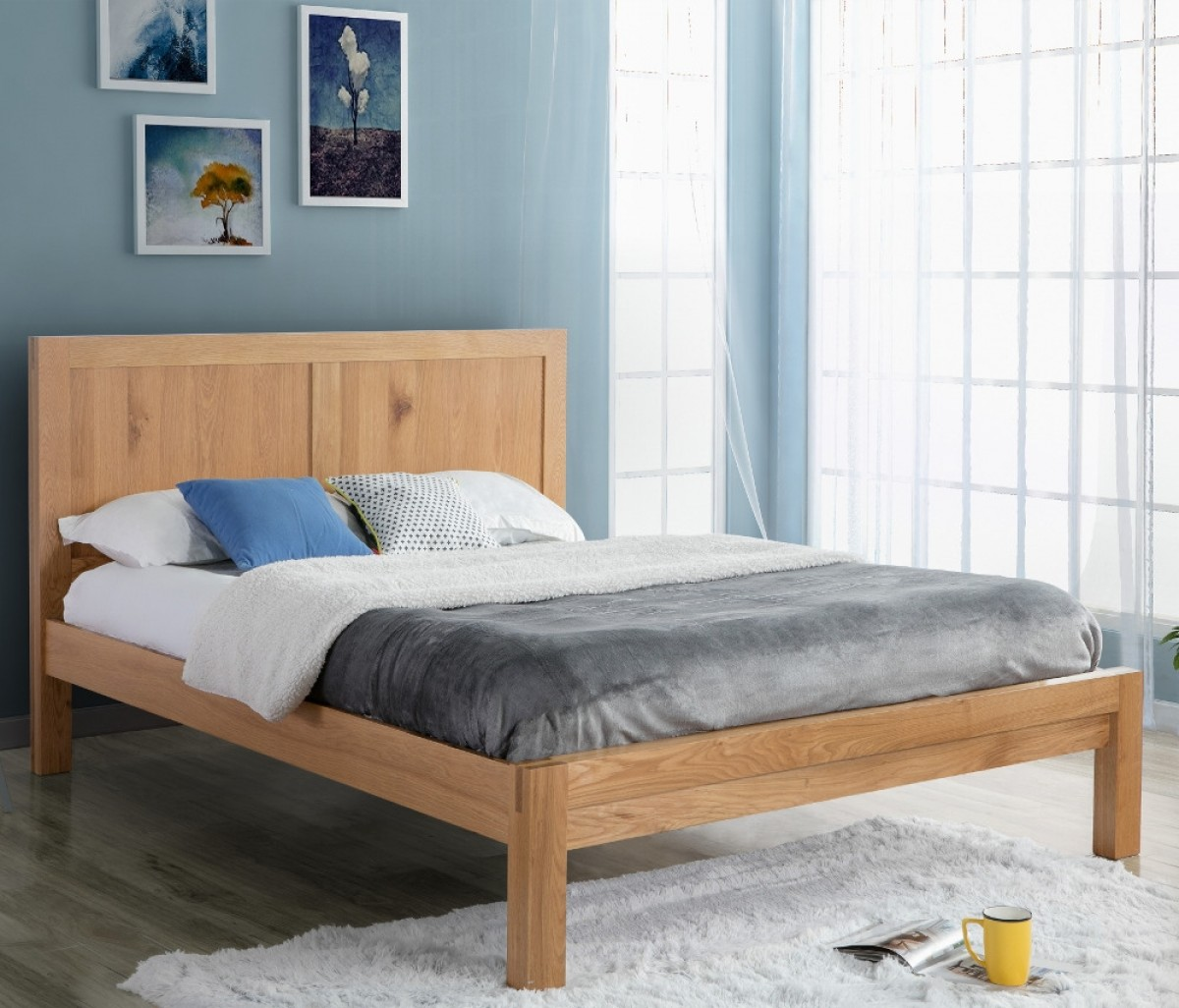 Bellevue Oak Wooden Bed