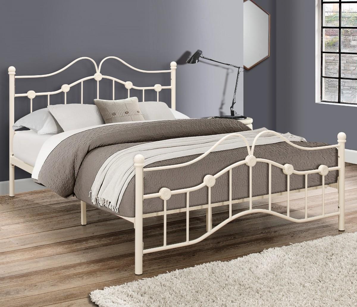 Canterbury Cream Metal Bed