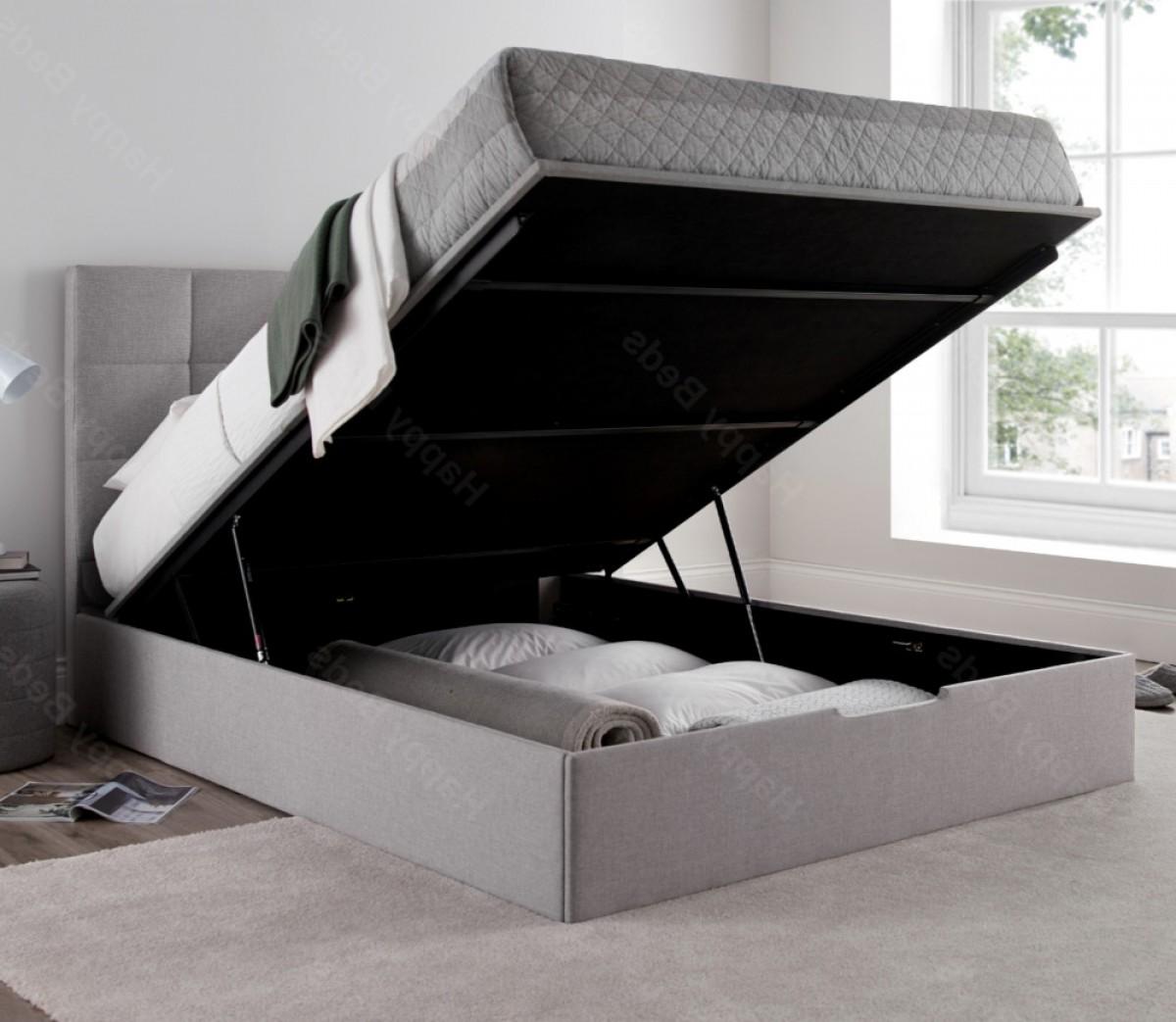 Whitburn Silver Fabric Ottoman Storage Bed