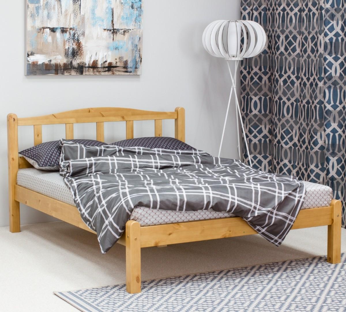 Amberley Antique Pine Wooden Bed