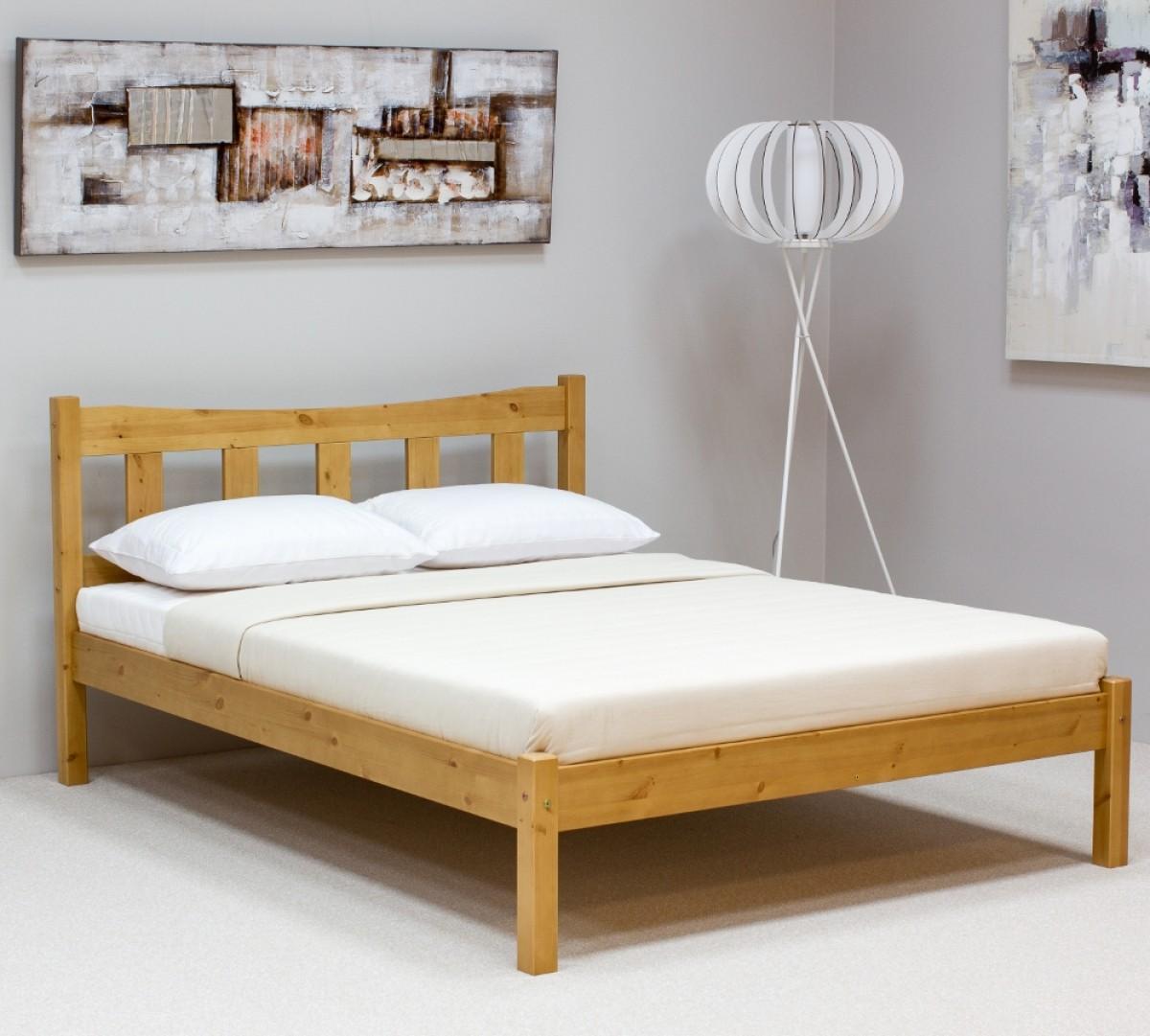 Poppy Antique Pine Wooden Bed