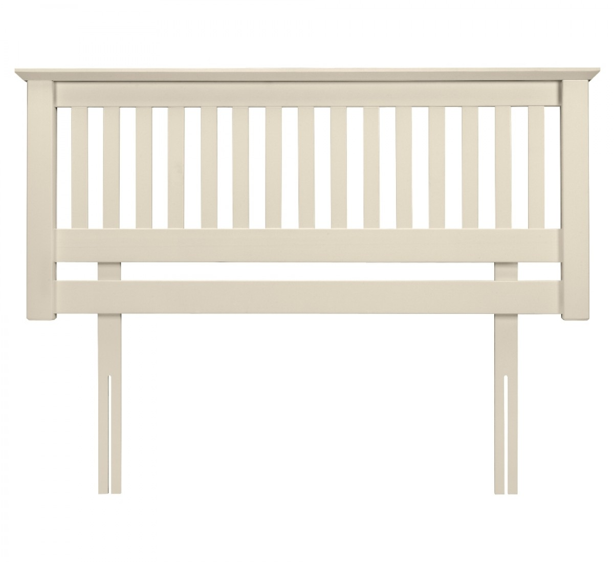 Barcelona Stone White Finish Solid Pine Wooden Headboard