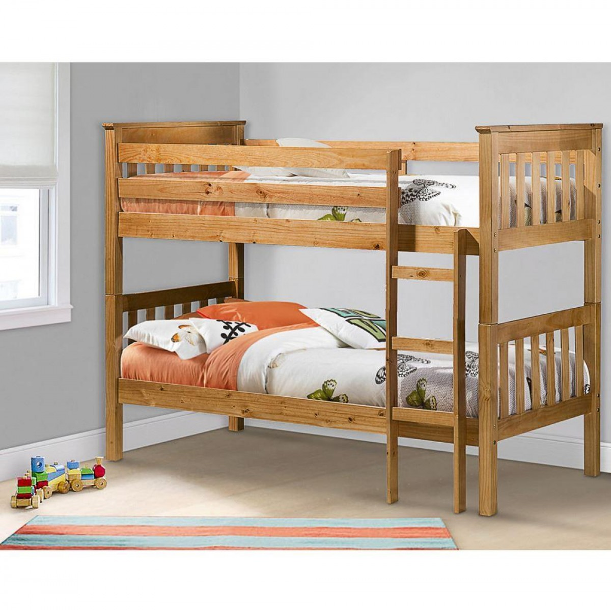 Portland Pine Wooden Bunk Bed