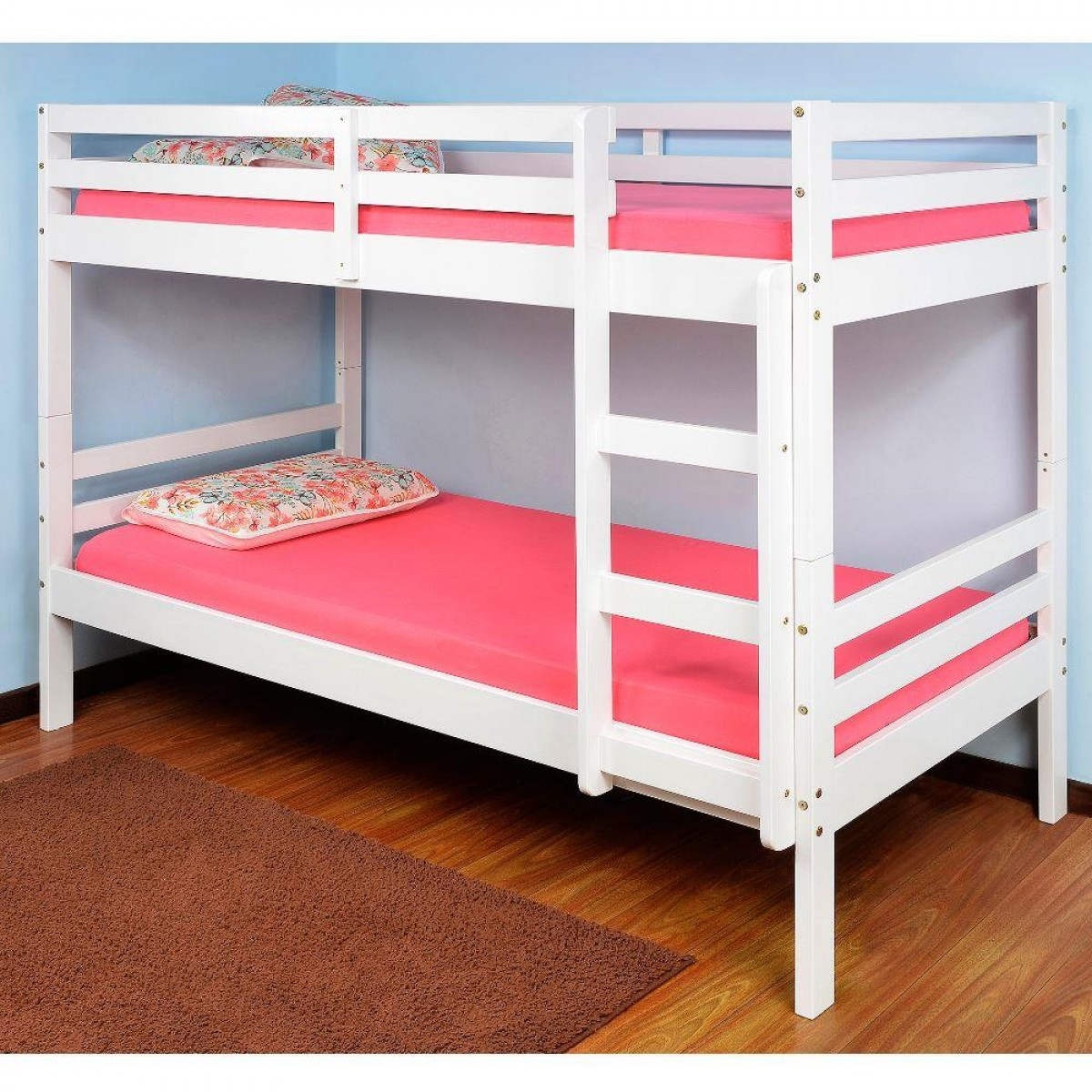 Durham White Wooden Bunk Bed
