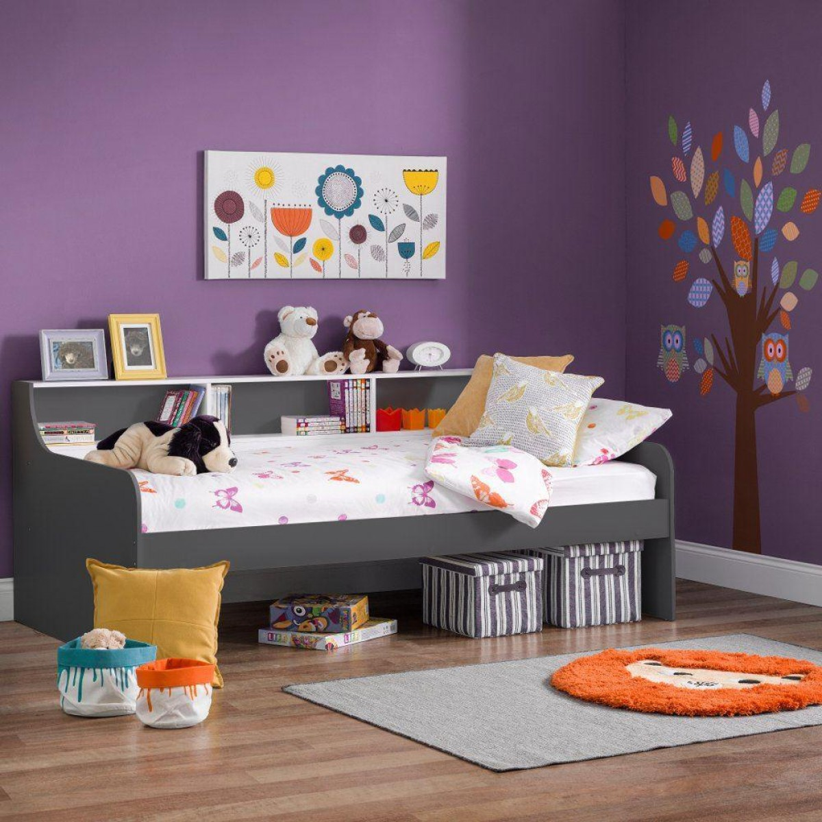 Grace Grey Wooden Day Bed