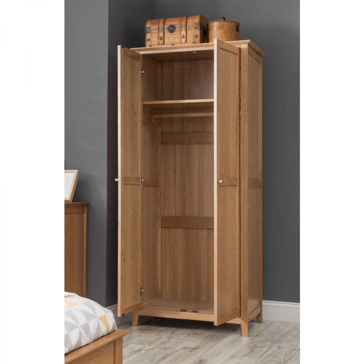 Salerno Oak Wooden 2 Door Wardrobe
