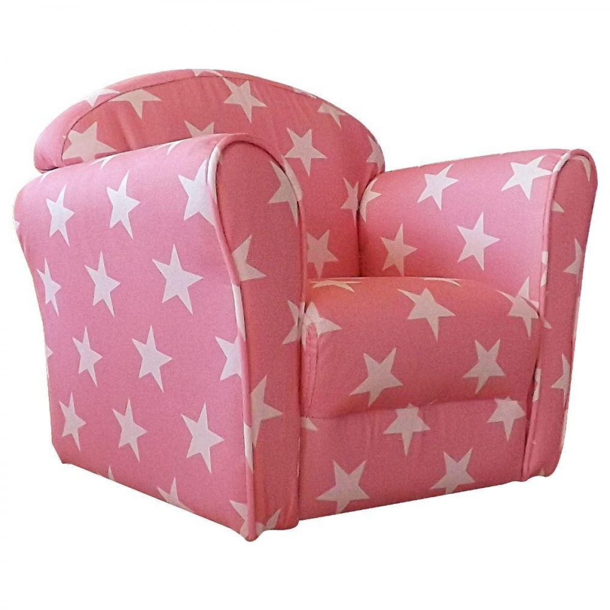 Children's Pink and White Stars Mini Armchair