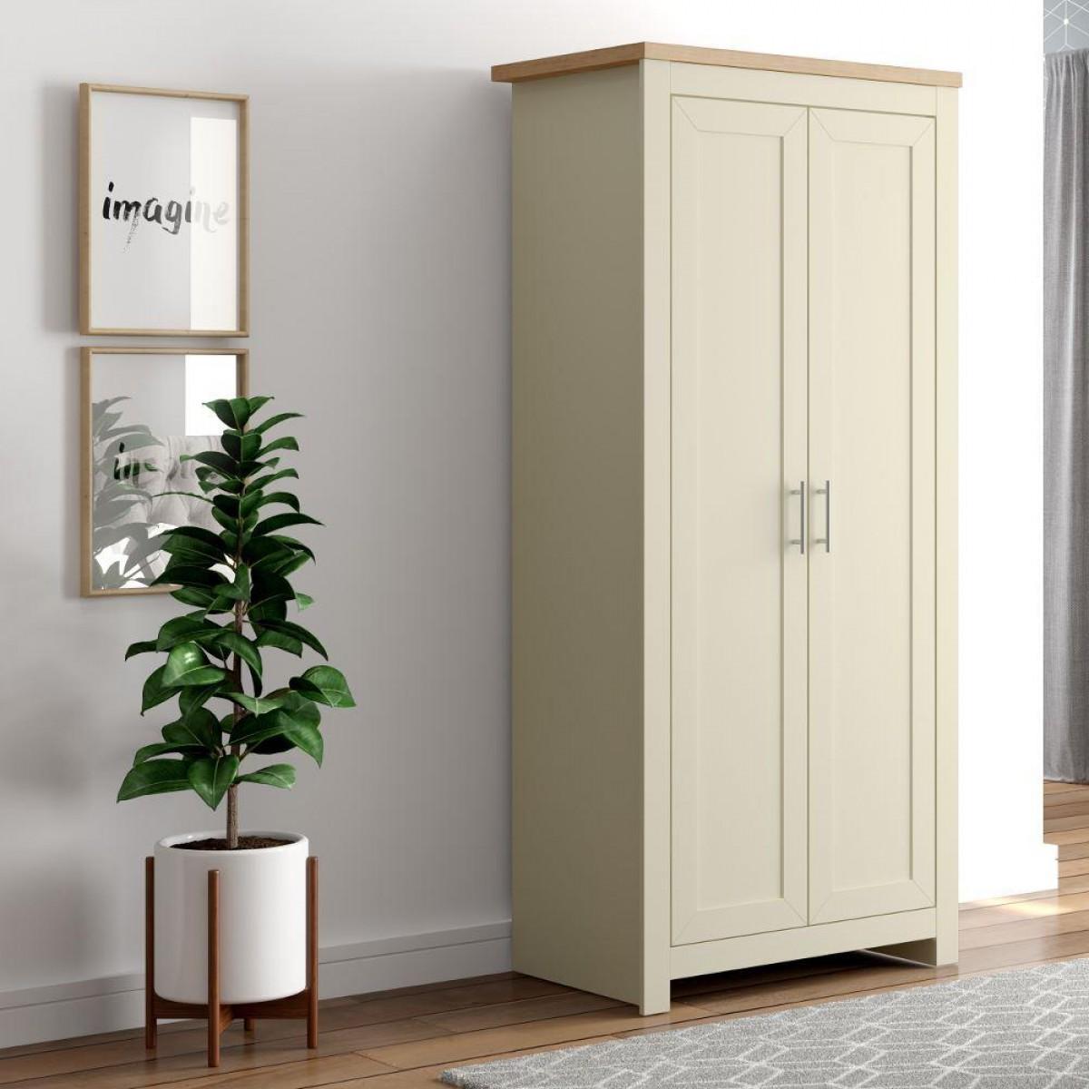 Winchester Cream and Oak 2 Door Wardrobe