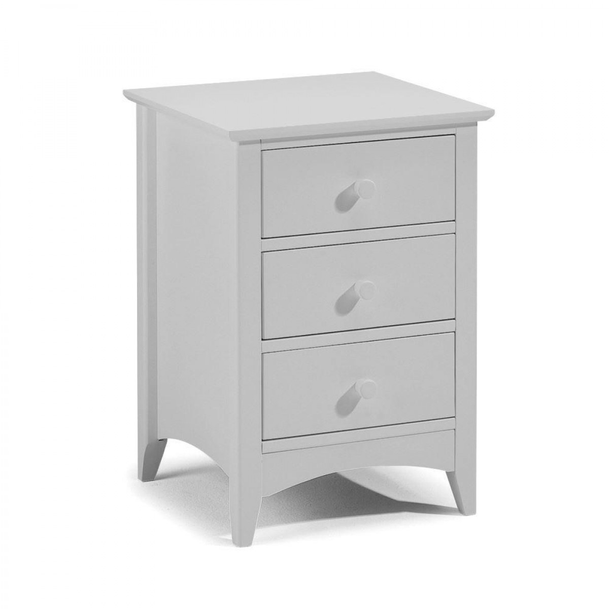 Cameo Grey 3 Drawer Bedside Table