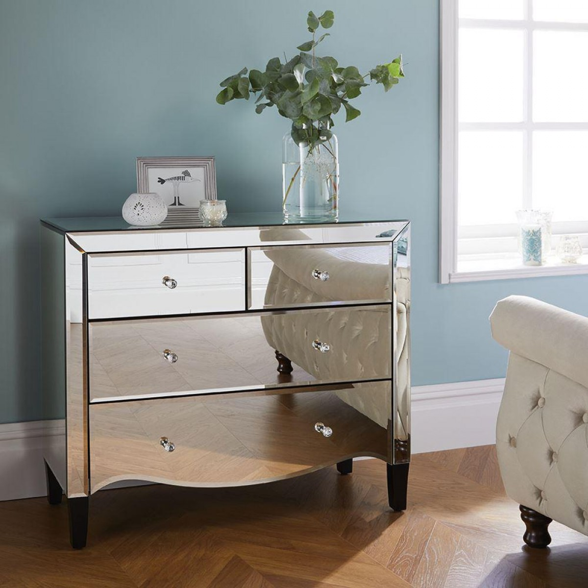 Palermo Mirrored 2 + 2 Drawer Chest