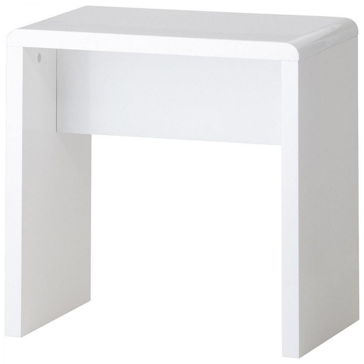 Manhattan White Wooden Dressing Table Stool