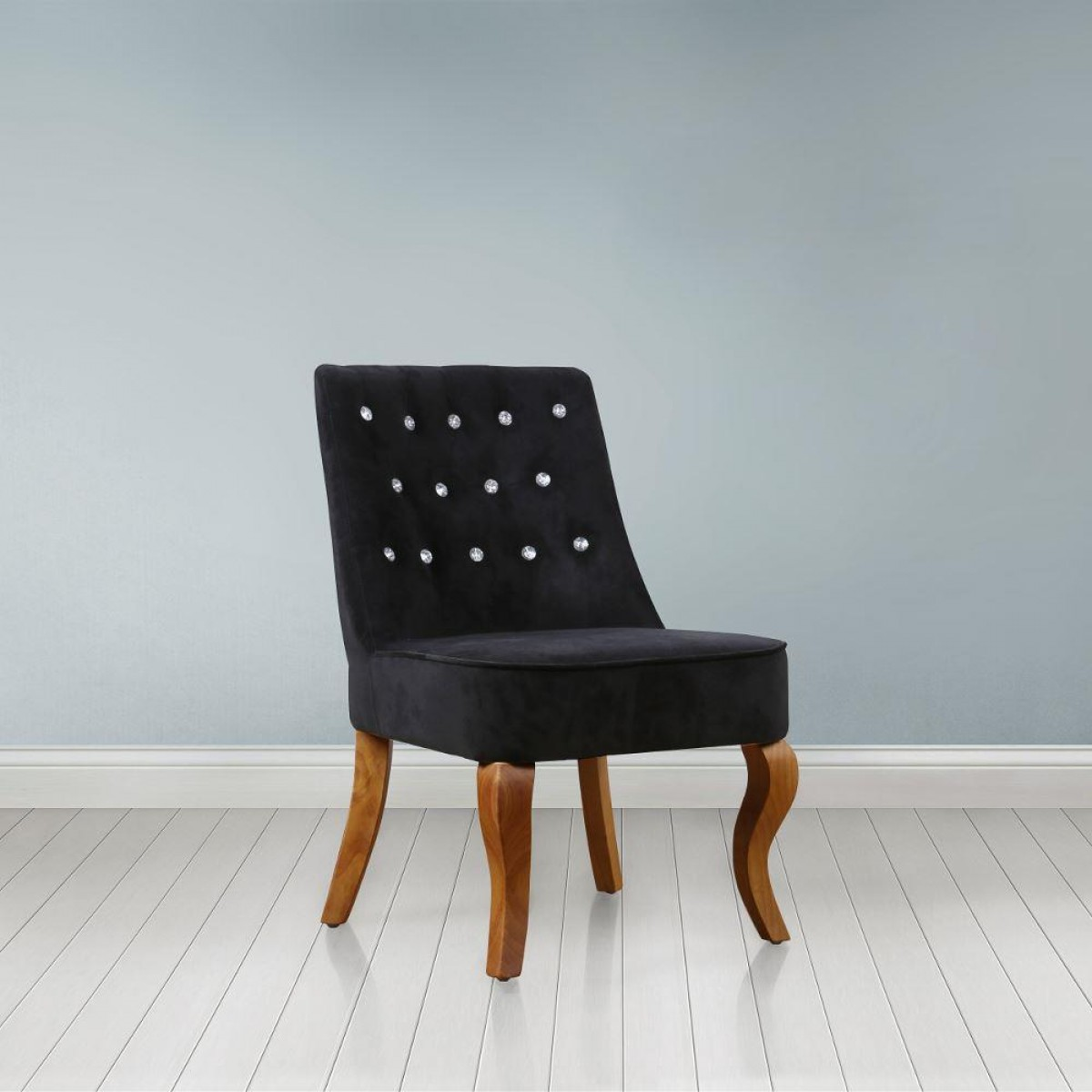 Darcey Black Fabric Chair
