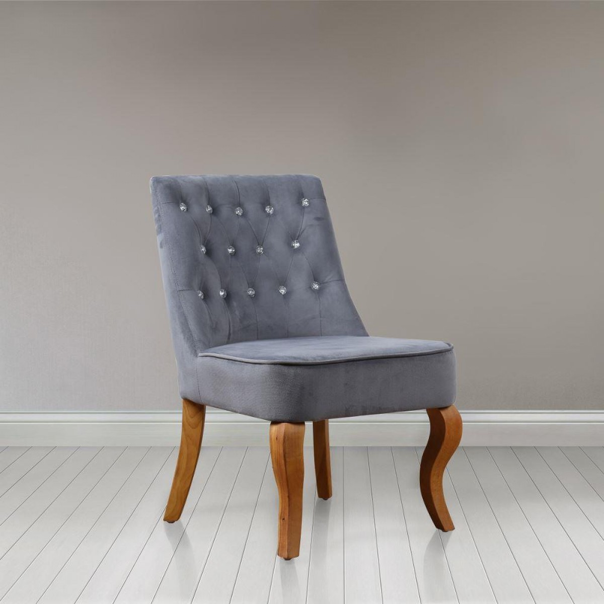 Darcey Grey Fabric Chair