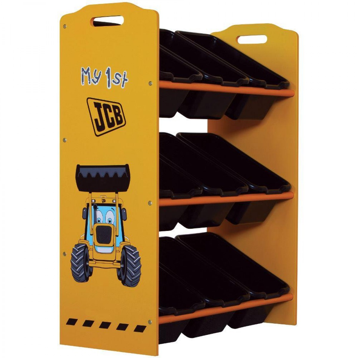 JCB Yellow Children's Digger 9 Bin Storage Unit