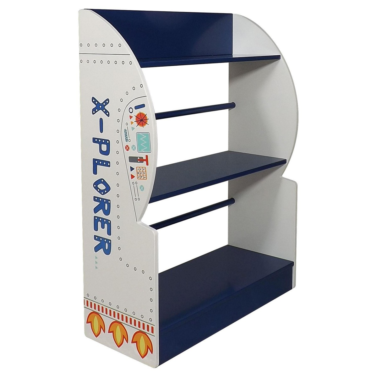 Space Explorer Children's Rocket Ship Bookcase