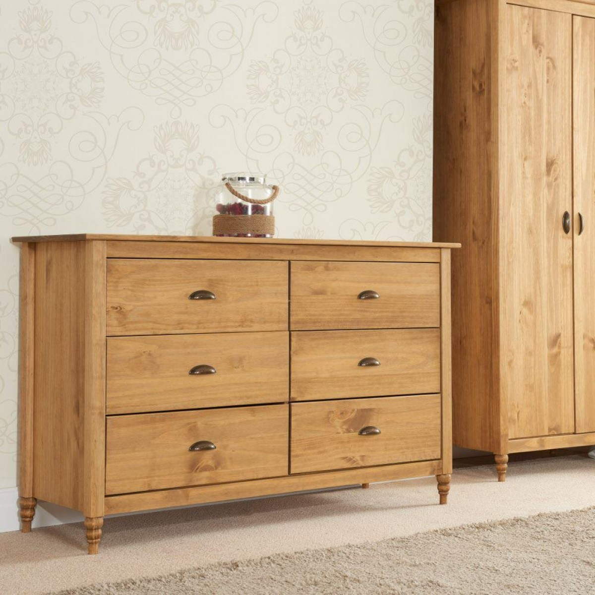 Pembroke Pine 6 Drawer Chest