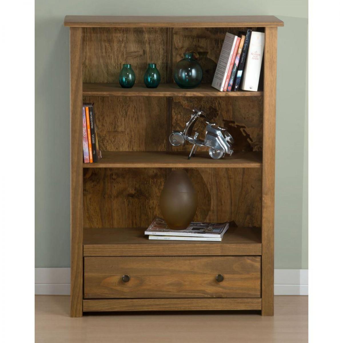 Santiago Pine 1 Drawer Bookcase