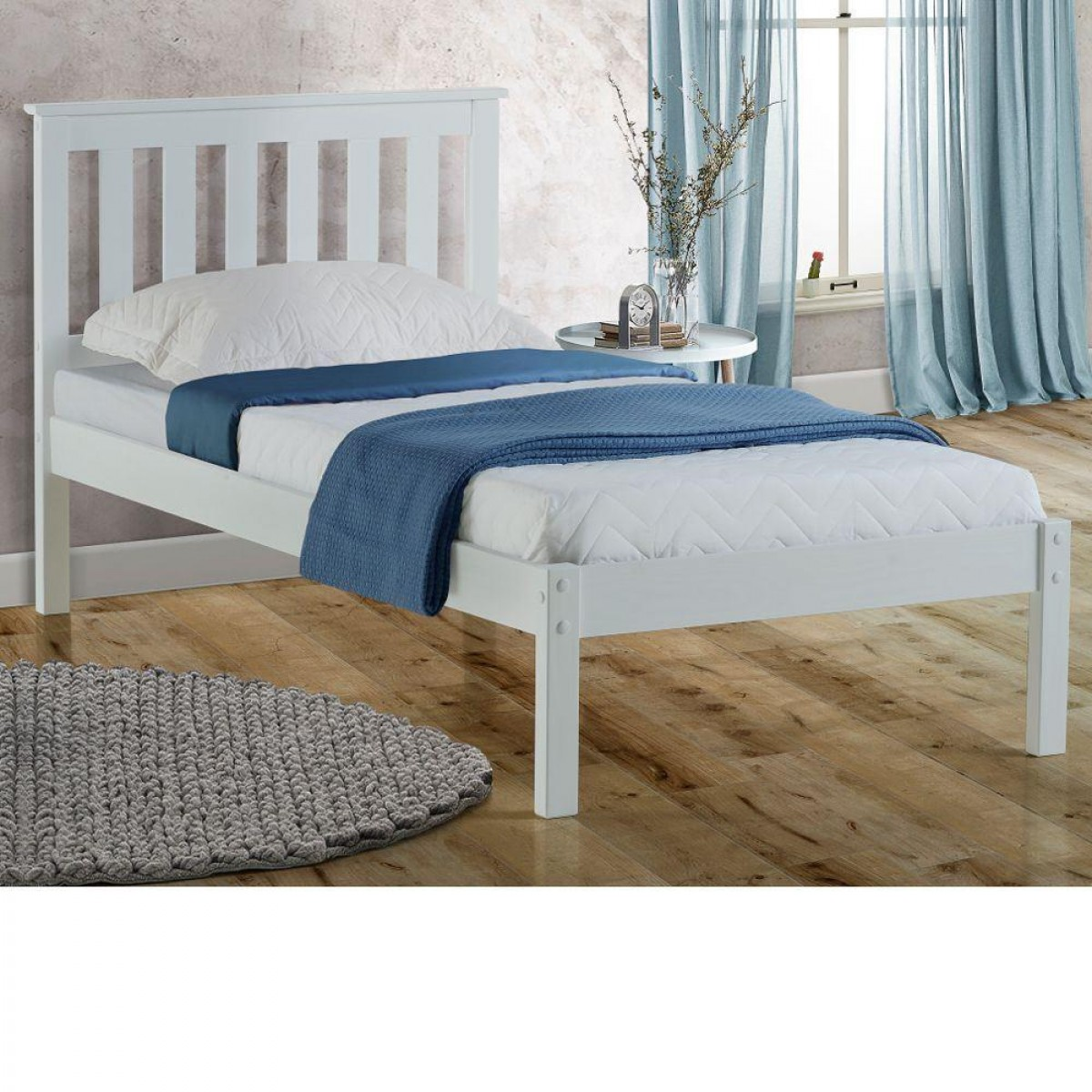 Denver White Solid Pine Wooden Bed