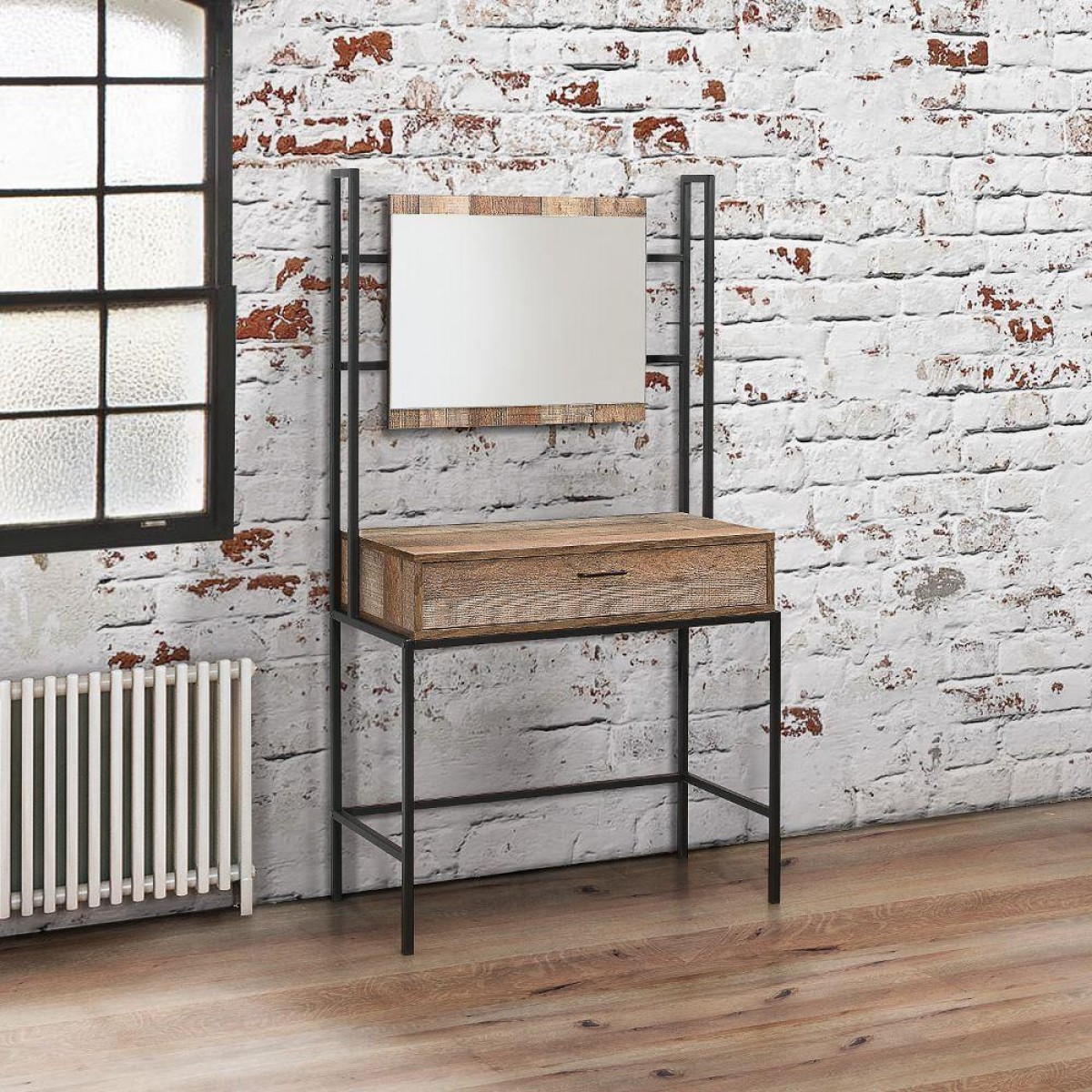 Urban Rustic Dressing Table and Mirror