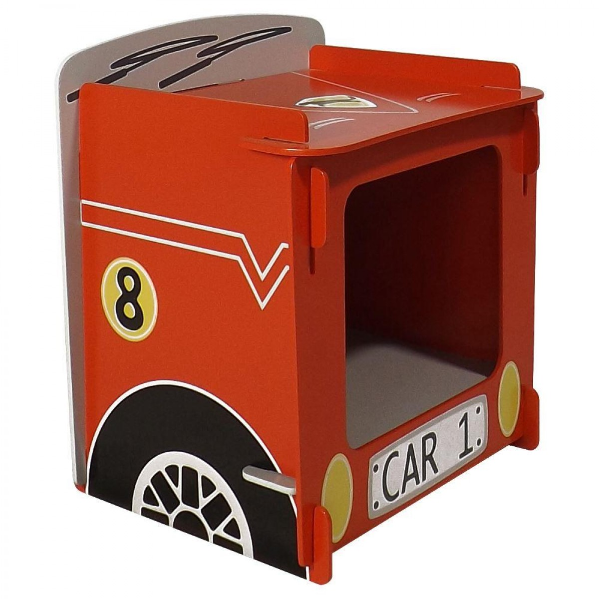 Red Racing Car Children's Bedside Table