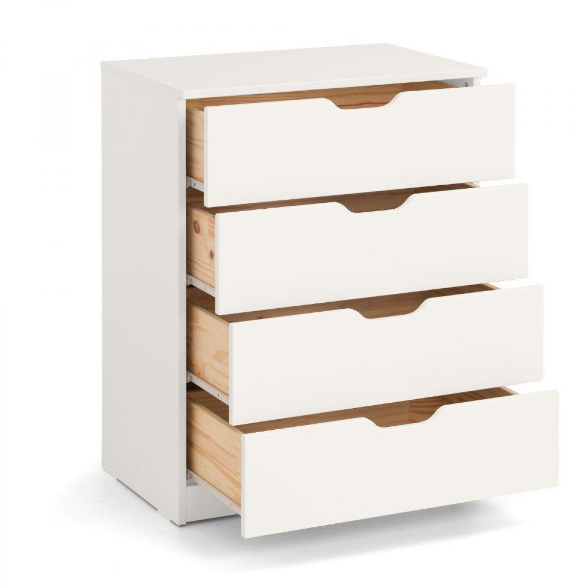 Pluto Stone White Wooden Chest of Drawers