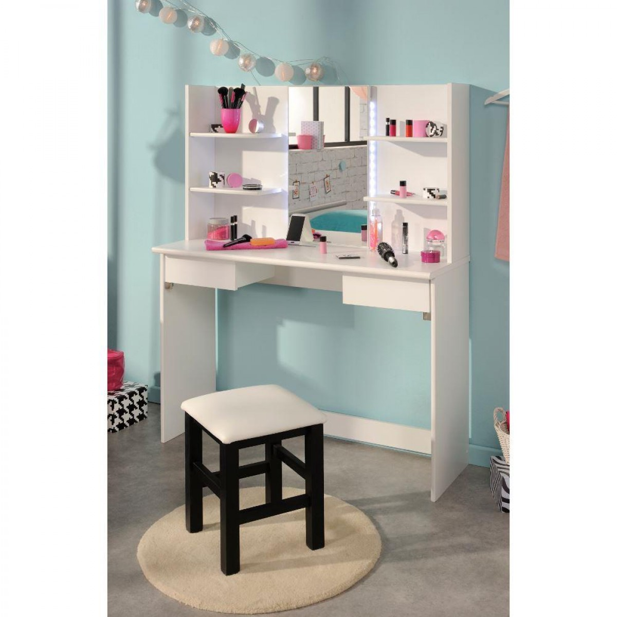 Beauty Bar Dressing Table White