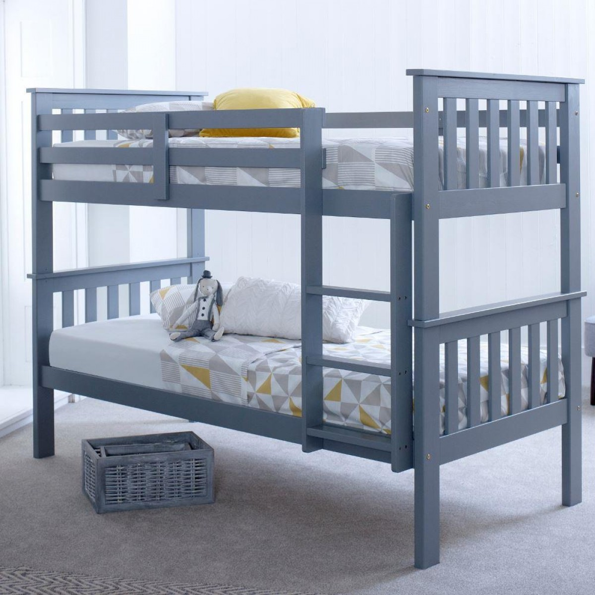 Groovy Atlantis Grey Wooden Bunk Bed Frame Machost Co Dining Chair Design Ideas Machostcouk