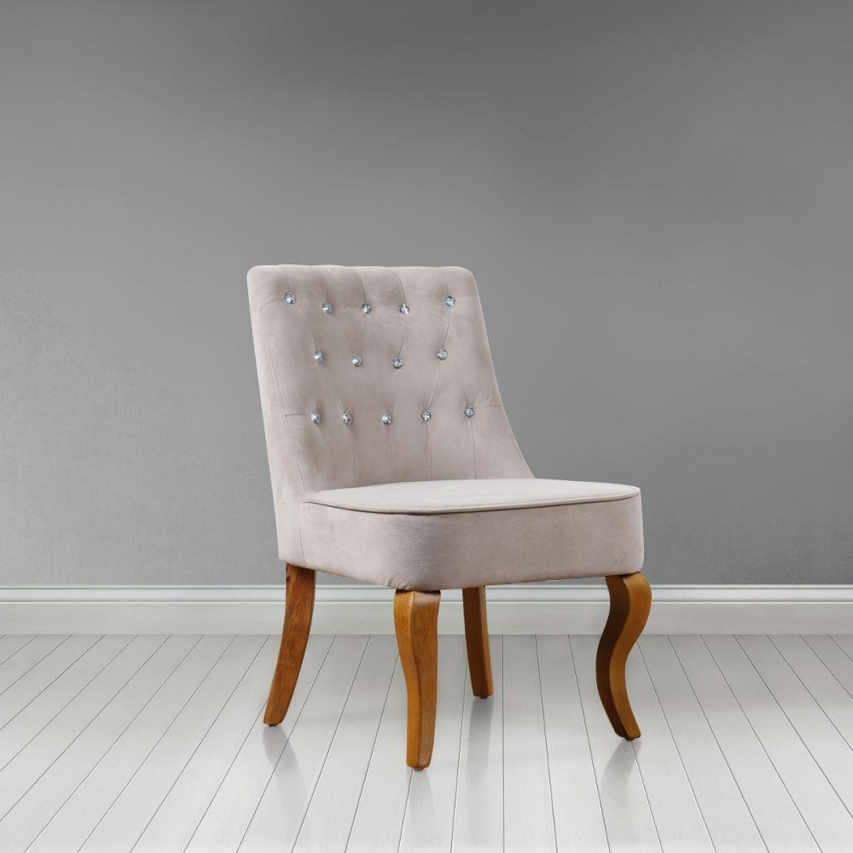 Darcey Beige Fabric Chair